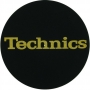 Slipmat Technics Black - Gold logo